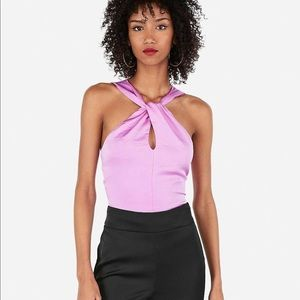 NWT Express Twist Halter Tie Back Cropped Top, XS
